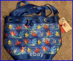 NWT Harveys Little Mermaid Ariel Park Hopper Seatbelt Bag Purse Backpack Tote