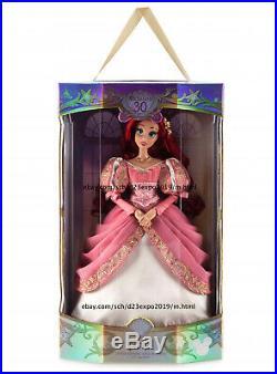 New 2019 Disney D23 Expo Little Mermaid 30th Anniversary Ariel Doll 17 LE 1000