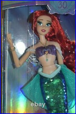 New Disney Little Mermaid Limited Edition 30th Anniversary 17 Ariel Doll Figure