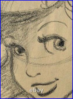 Original Animation Drawing Of Ariel In The Little Mermaid. Signed David Pacheco