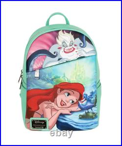 PREORDER Loungefly Ariel Little Mermaid Ursula Backpack Pink a la Mode Exclusive