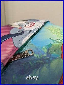 Pink A La Mode DEC Loungefly Little Mermaid Ariel Ursula Backpack IN HAND BNWT