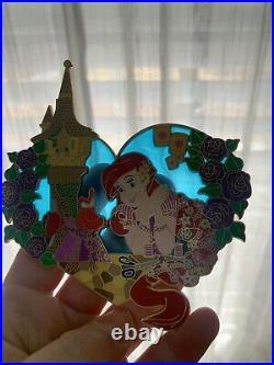 Princess Invades Disney Fantasy pin LE 50 Ariel Little Mermaid Tangled Rapunzel