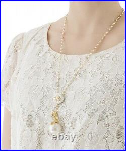 Q-pot x The Little Mermaid Ariel Wonder of the Sea Paerl neckless from JAPAN F/S