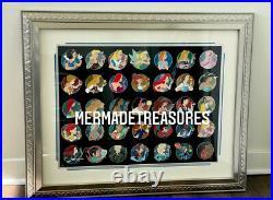 RARE AP Disney WDI Pin Frame Set Heroine Profile Ariel Alice Sally Belle Elsa LE