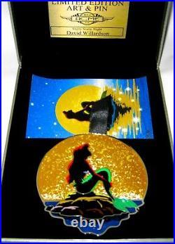 RARE LE 100 SUPER Jumbo Disney Pin Little Mermaid Ariel Artist Starry Night Acme