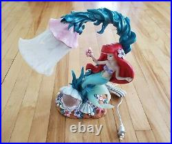 RARE Vintage Disney Ariel Little Mermaid Seaflower Desk Lamp Light