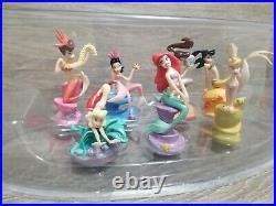 Rare DISNEY STORE Little Mermaid ARIEL & HER SISTERS Figurines SET 7 PVC FIGURES