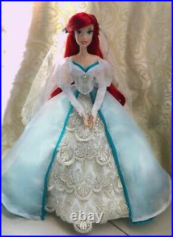 Replica of Ariel Platinum wedding dress limited edition doll from Little Mermaid