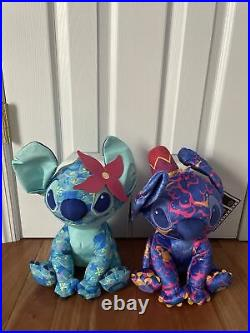 Stitch Crashes Disney Lot of 2 Little Mermaid and Aladdin Brand New In Hand