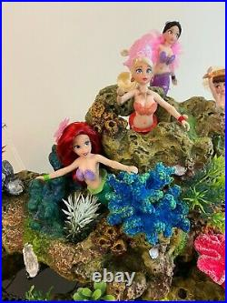 The Little Mermaid Ariel and Sisters Customized Doll Set Diorama with Lighting