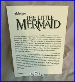 The Little Mermaid Daughters of Triton Disney Snowglobe RARE