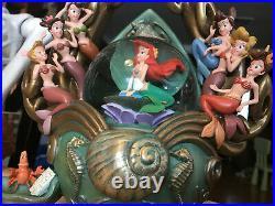 The Little Mermaid Daughters of Triton Disney Snowglobe RARE! Free shipping