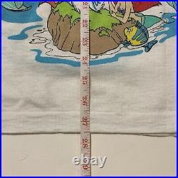 Vintage Disney The Little Mermaid T Shirt Single Stitch USA XL Scuttle Ariel