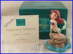 WDCC Seaside Serenade Ariel from Disney's The Little Mermaid in Box Signed COA